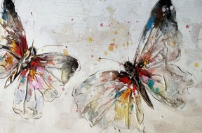 Schilderij.Vlinders